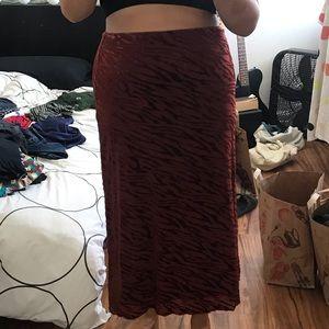 Velvety Cheetah Print Skirt